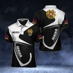 Customize Armenia Coat Of Arms & Flag All Over Print Polo Shirt
