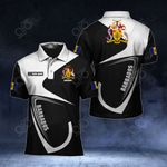 Customize Barbados Coat Of Arms & Flag All Over Print Polo Shirt
