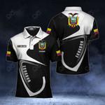 Customize Ecuador Coat Of Arms & Flag All Over Print Polo Shirt