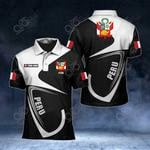 Customize Peru Coat Of Arms & Flag All Over Print Polo Shirt