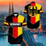Germany - German Unity Short Sleeve Linen Button Down Shirt