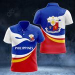 Philippines Proud Version All Over Print Polo Shirt