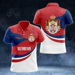 Serbia Proud Version All Over Print Polo Shirt