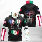 Living In America With Mexican Roots All Over Print Neck Gaiter Hoodie