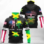 Living In America With Jamaican Roots All Over Print Neck Gaiter Hoodie