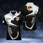 Customize Algeria Coat Of Arms & Flag All Over Print Polo Shirt