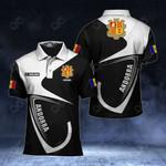 Customize Andorra Coat Of Arms & Flag All Over Print Polo Shirt
