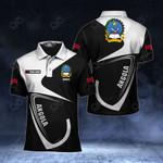 Customize Angola Coat Of Arms & Flag All Over Print Polo Shirt