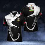 Customize Antigua And Barbuda Coat Of Arms & Flag All Over Print Polo Shirt