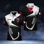 Customize Bahrain Coat Of Arms & Flag All Over Print Polo Shirt