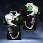 Customize Brazil Coat Of Arms & Flag All Over Print Polo Shirt