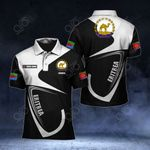 Customize Eritrea Coat Of Arms & Flag All Over Print Polo Shirt