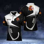 Customize Spain Coat Of Arms & Flag All Over Print Polo Shirt