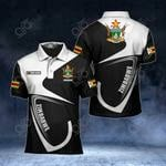 Customize Zimbabwe Coat Of Arms & Flag All Over Print Polo Shirt