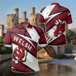 Wales Bloody Dragon Of Welsh - Lode Style All Over Print Polo Shirt