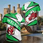 Wales Bloody Dragon Of Welsh - Lode Style (Green) All Over Print T-shirt