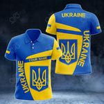 Customize Ukraine Coat Of Arms - Premium Style All Over Print Polo Shirt