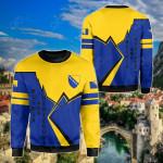 Bosnia And Herzegovina Lightning All Over Print Shirts