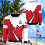 Dominican Republic Lightning All Over Print Shirts