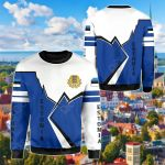 Estonia Lightning All Over Print Shirts
