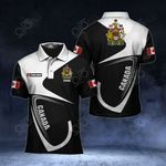 Customize Canada Coat Of Arms & Flag All Over Print Polo Shirt