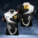 Customize Chad Coat Of Arms & Flag All Over Print Polo Shirt