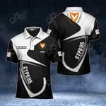 Customize Cyprus Coat Of Arms & Flag All Over Print Polo Shirt