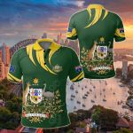 Australia Coat Of Arms Green All Over Print Polo Shirt