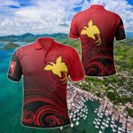Papua New Guinea - Raggiana Bird Of Paradise Polynesian Patterns All Over Print Polo Shirt