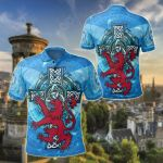 Scotland Celtic - Scottish Lion With Celtic Cross All Over Print Polo Shirt