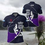 Scotland Rugby - Rampant Lion And Thistle All Over Print Polo Shirt