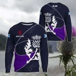 Scotland Rugby Rampant Lion And Thistle All Over Print Shirts
