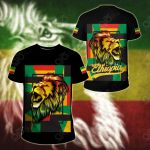 Ethiopia Lion Abstrato Black All Over Print T-shirt