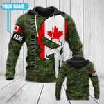 Customize Canadian Army Skull All Over Print Hoodies