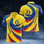 Ecuador Coat Of Arms - Whirlpool Style All Over Print Polo Shirt