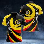 Uganda Coat Of Arms - Whirlpool Style All Over Print Polo Shirt