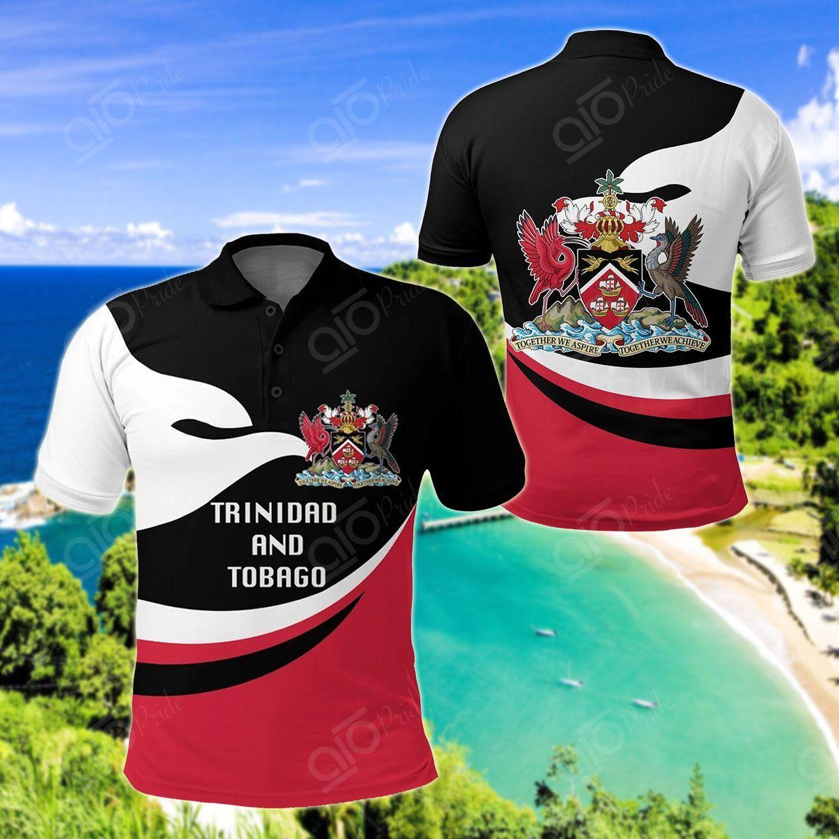 NS Trinidad And Tobago Proud Version All Over Print Polo Shirt