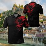 Albania In Me - Special Grunge Style All Over Print Polo Shirt