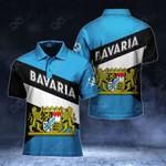 Bavaria Coat Of Arms - Hexagon All Over Print Polo Shirt