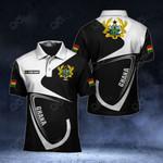 Customize Ghana Coat Of Arms & Flag All Over Print Polo Shirt