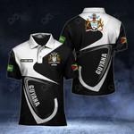 Customize Guyana Coat Of Arms & Flag All Over Print Polo Shirt