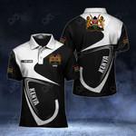 Customize Kenya Coat Of Arms & Flag All Over Print Polo Shirt
