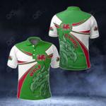 Wales Round Dragon All Over Print Polo Shirt