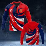 Norway Coat Of Arms - Whirlpool Style All Over Print Hoodies