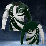 Pakistan Coat Of Arms - Whirlpool Style All Over Print Hoodies
