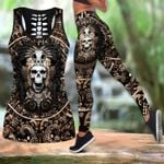 Mexican Aztec Ver02 Hollow Tank Top Or Legging