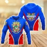 Puerto Rico Coat Of Arms Style All Over Print Shirts