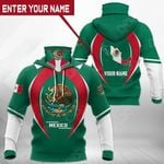 Customize Mexico Coat Of Arms & Map All Over Print Neck Gaiter Hoodie