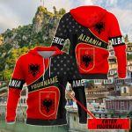 Customize Albania Coat Of Arms - America All Over Print Hoodies