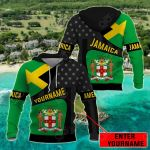 Customize Jamaica Coat Of Arms - America All Over Print Hoodies